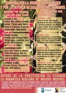 cartel campaña de prostitución